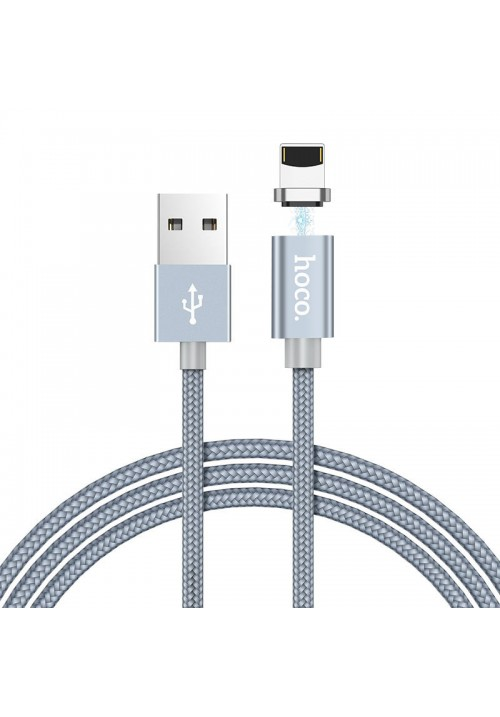 Магнітний кабель Hoco U40A Lightning DATA-кабель Magnetic Charging Cable| 2А | 100cm Gray