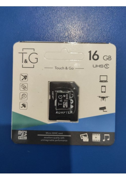 Touch and Go Micro SD 16 GB накопитель UHS-1 10 Class (TG-16GBSD10U1-01)